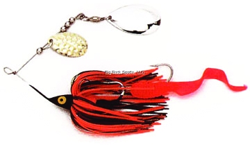 Picture of Dixie Dancer Lures Spinnerbait, 3/8 Oz, Tandem Indiana Blades, Brown/Orange