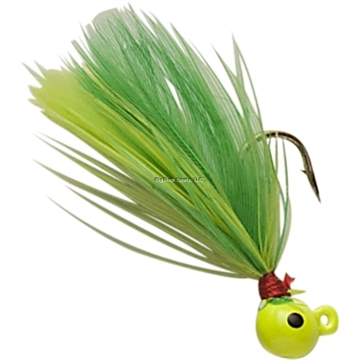 Picture of Double OO Flu-Flu Jig, 1/16 Oz, SZ 6 Hook, Chartreuse/Chartreuse & Lime