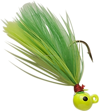 Picture of Double OO Flu-Flu Jig, 1/16 Oz, SZ 6 Hook, Chartreuse/Chartreuse & Lime 63993