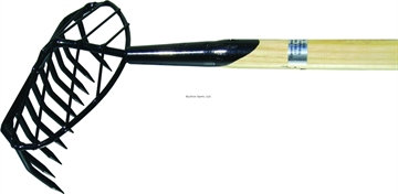 Picture of Down East Clam Rake 5' W/Basket 10-Round Tooth