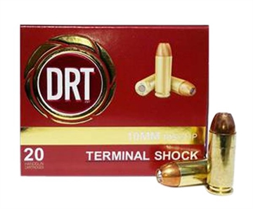 Picture of Drt 00122 Terminal Shock 10Mm 105 GR Hollow Point Flat Base 20Bx/50Cs