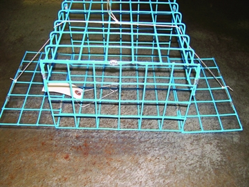 Picture of E-Z Catch 2 Door Non Folding Crab Trap Blue