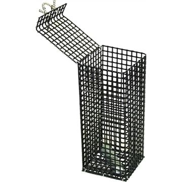 "Picture of E-Z Catch Enviromentally Friendly Weighted Pvc Coated Chum Pot With Zinc Bar 1/2""X1/2"" Mesh"