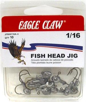 Picture of Eagle Claw 1/16 Fishhead Brnz HK 5Ct