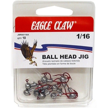 Picture of Eagle Claw 1/16 Round Jighd Red HK 5Ct