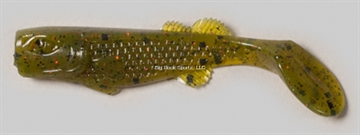 "Picture of Edge Hybrid Flurry Minnow Swimbait, 3"", Fire Avocado, Floating, 10/Carton"