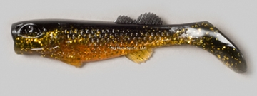 "Picture of Edge Hybrid Flurry Minnow Swimbait, 3"", Pumpkin Head, Floating, 10/Carton"