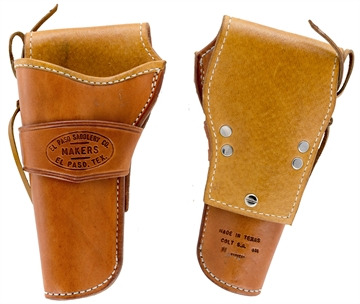 "Picture of EL Paso Saddlery 444Rr 44 Half-Breed Colt Saa 4.75"" Barrel Leather Russet"