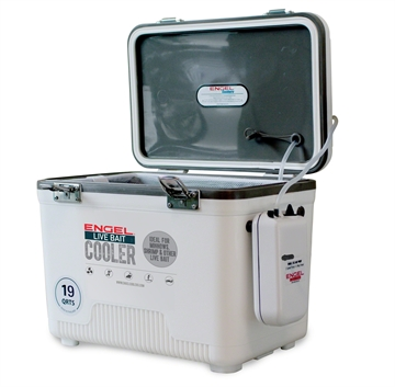 Picture of Engel 19 QT Live Bait Cooler W/Aerator & Net White