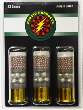 """Picture of Exotic Products Jungle Juice 12 GA 2 3/4"""" Copper 7.5/00 Buck 3-Pk"""