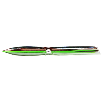 "Picture of Fathom Offshore Bulb Squid Trolling Skirt, 11"", Brown & Clear With Foil With Green Veins"