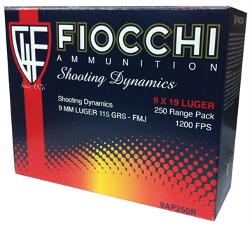 Picture of Fio 9Mm 115Gr Fmj 250Ct