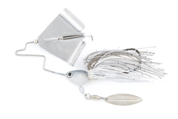 Picture of Fish Head Primal Buzz Bait, With Under Spin, 1/4 Oz. Albino