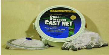 "Picture of Fitec EZ Throw 750 Cast Net Clear Mono 3/8"" Mesh, 4' Coated Steel"