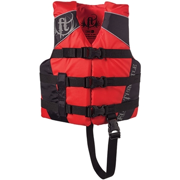 Picture of Full Throttle 112200-100-001-14 Water Sports Vest Dlx Nylon Red Child