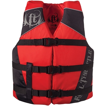 Picture of Full Throttle 4 Water Sports Vest Dlx Nylon Red Youth