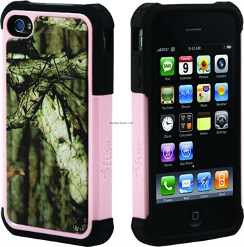Picture of Fuse Fuse F7395 Heavy Duty Rugged Iphone Mossy Oak Iphone 4/4S Shell Pnk Trim