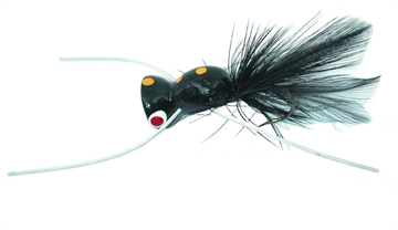 Picture of Gaines Bass Duster Popper, SZ 4 Hook, Black/Yellow