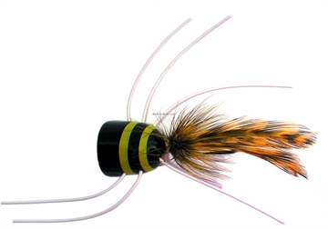 Picture of Gaines Bass King Popper, Black/Yellow