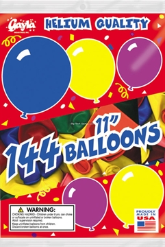 """Picture of Gayla Balloons 11"""" Round 1Gr BG"""