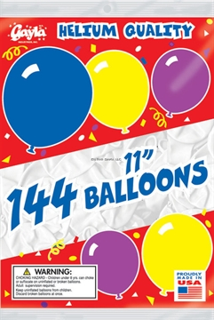 """Picture of Gayla Balloons 11"""" Round 1Gr BG Wht Only"""