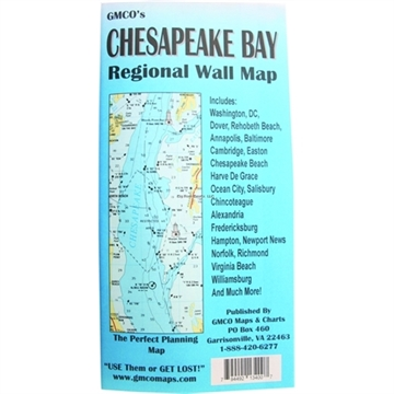 Picture of Gmco Chesapeake Bay Map Folded