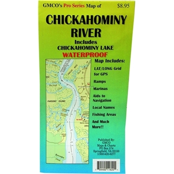Picture of Gmco Chickahominy River Map Pro Series Gps/Folded