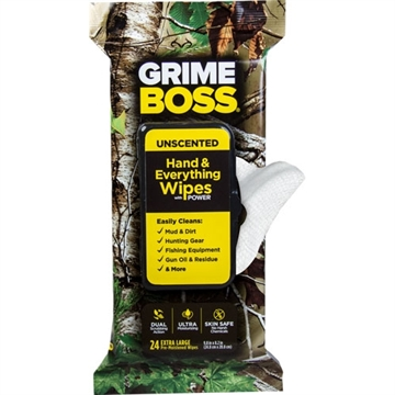 Picture of Grime Boss Boss Realtree Unscented Textured/Soft Wipes 24Ct Wipes