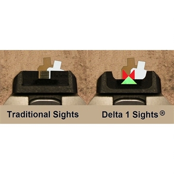 Picture of Gun Pro Delta 1 Sight Set Troy 45 Degree Offset AR