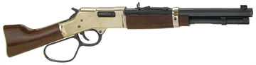 "Picture of Henry H006ml Mare's Leg  Pistol Lever 44 Magnum 12.904"" 5 American Walnut Brass Receiver/Blued Barrel"