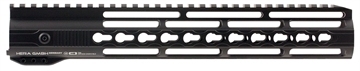 "Picture of Hera 110506 Irs Ar15 Rifle Aluminum Handguard With Keymod Black Hard Coat Anodized 12"""