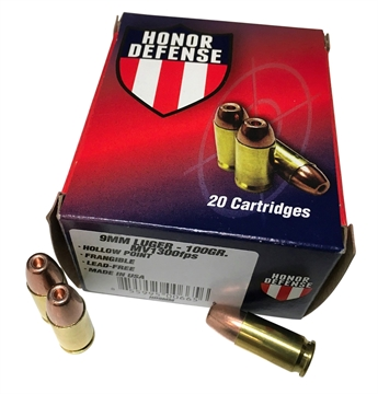 Picture of Honor Defense 9Mm 100Gr Frag HP
