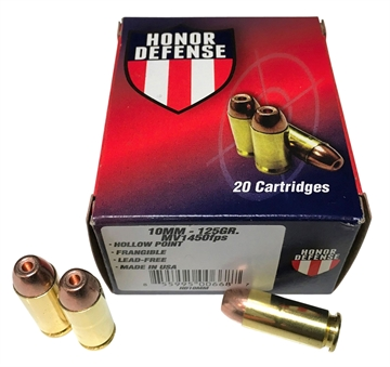 Picture of Honor Defense Hd10mm    10Mm Automatic 125 GR Hollow Point Frangible 20 Bx/ 25 CS