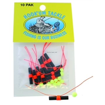 Picture of Hook'um Bobber Stop Knot W/Bead Org 10Pk