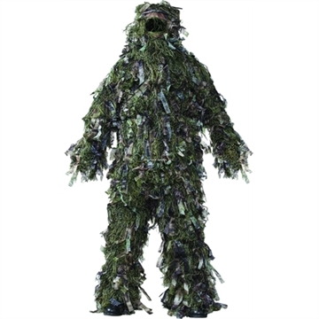 Picture of Hot Shot 3-D Mens Ghillie Suit, Woodland Camo 3-Piece Set, Med/Large