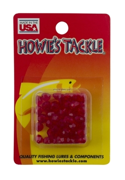 Picture of Howie 6Mm Facetted Beads; Ruby Red, 50Pk