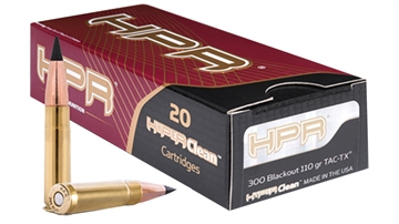 Picture of Hpr Hyperclean Rifle Ammo 300 Aac, Barnes Tac-Tx, 110 Grains, 2311 Fps, 20, Boxed