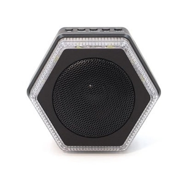 Picture of Hybrid Light Solar Hex Speaker/Charger Blk