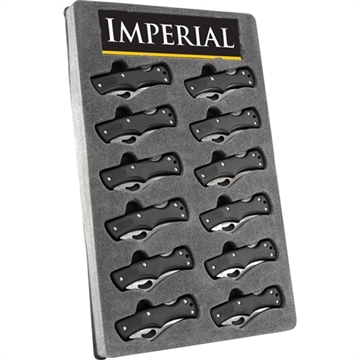 "Picture of Imperial Knife Rubber Lockback 2.3"" Blade 12-Piece Per Disply"