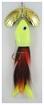 Picture of Inhaler Airhead Twin Blade Musky Bait,  Brass-Brass/Brown-Org -Yellow
