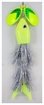 Picture of Inhaler Airhead Twin Blade Musky Bait,  Firefly All Silver/Chartreuse-Yellow