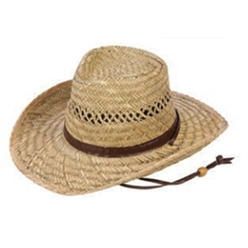 """Picture of Jafari Hats Outback Straw Hat 3.5"""" Brim"""