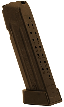Picture of Jagemann 12353 Jag 17 Magazine Compatible With G17 18 RD Round Polymer Brown Finish