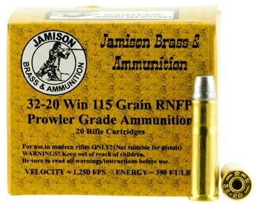 Picture of Jamison 3220Wcf115pr Prowler Grade 32-20 Winchester 115 GR Rnfp 20 Bx/ 10 CS