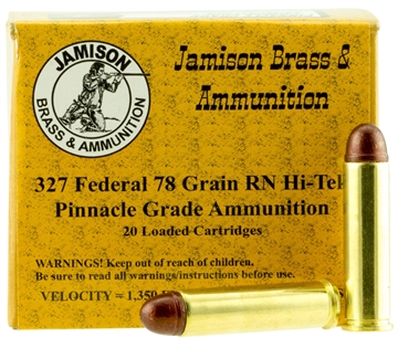 Picture of Jamison 327Fed78fr Pinnacle Grade 327 Federal 75 GR Round Nose 20 Bx/ 10 CS
