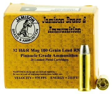 Picture of Jamison 32Hrm100pin Pinnacle Grade 32 H&R Magnum 100 GR Rnfp 20 Bx/ 10 CS