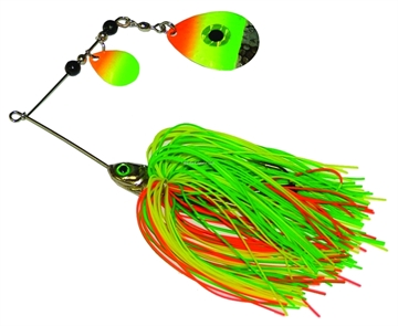 Picture of JB Lures Bass-N-Brut Spinnerbait, 3/8 Oz, Green/Chartreuse