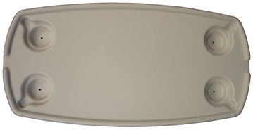 Picture of Jet Technologies 16X32 Oval Table Top White