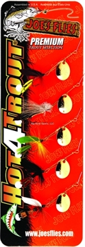 Picture of Joes Hot-4-Trout Spinner Fly, Assortment, 5/Pack