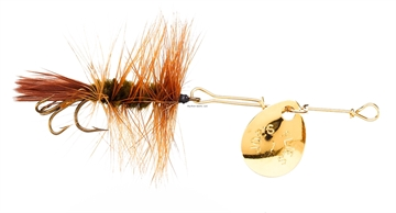 Picture of Joes Short Striker Classic In-Line Spinner Fly, SZ 10, Brown Hackle